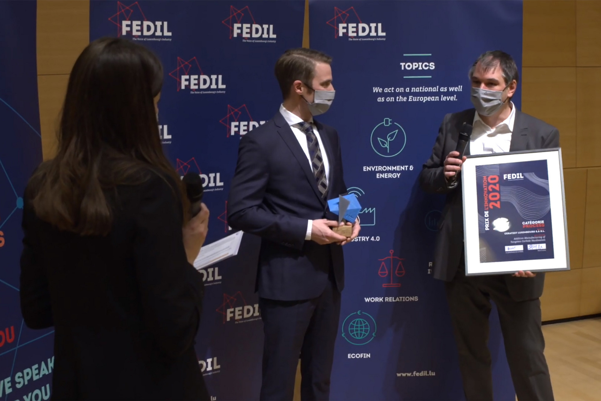 Innovation Award of the FEDIL business federation
